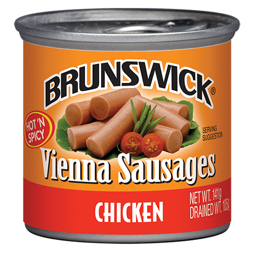 Brunswick<sup>&reg;</sup> Hot &#8216;N Spicy Chicken Vienna Sausages – 141g