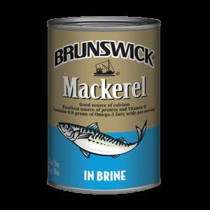 Brunswick<sup>&reg;</sup> Mackerel in Brine – 425g