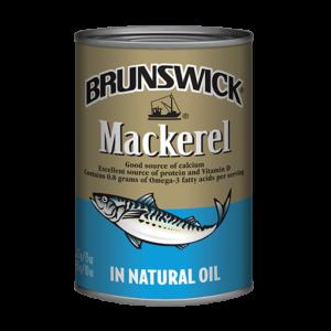 Brunswick<sup>®</sup> Mackerel in Natural Oil – 425g