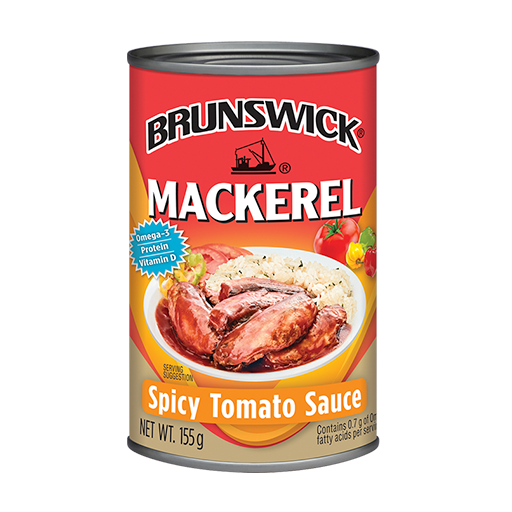 Brunswick<sup>&reg;</sup> Mackerel in Spicy Tomato Sauce – 155g