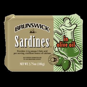 Brunswick<sup>&reg;</sup> Sardines in Olive Oil &#8211; 106g