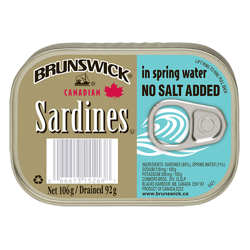 Brunswick® Sardines in Spring Water No Salt Added - 106g