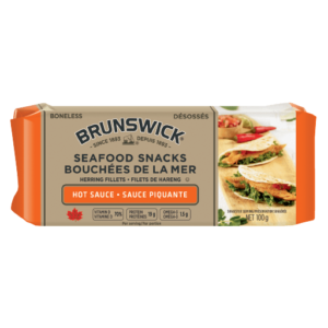 Brunswick<sup>®</sup> Seafood Snacks in Hot Sauce – 100g