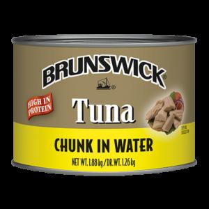 Brunswick<sup>®</sup> Chunk Tuna in Water – 1.88kg