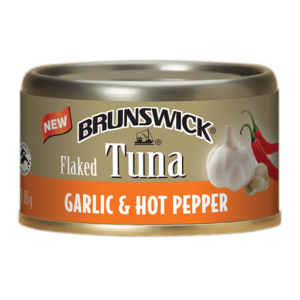 Brunswick<sup>&reg;</sup> Flaked Tuna Garlic &#038; Hot Pepper – 85g