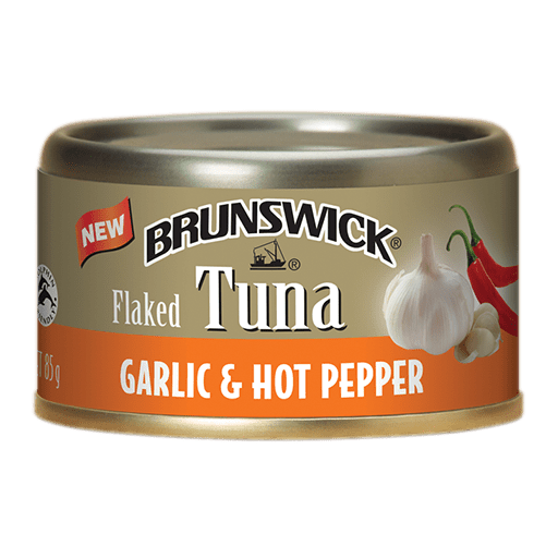 Brunswick<sup>&reg;</sup> Flaked Tuna Garlic &#038; Hot Pepper – 85g