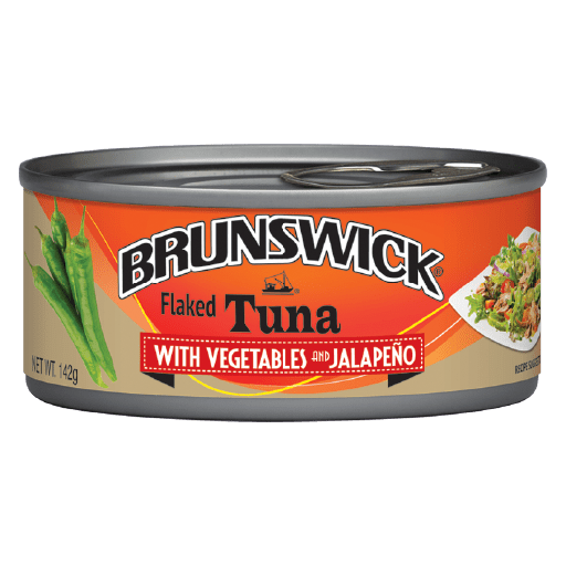 Brunswick<sup>&reg;</sup> Flaked Tuna with Vegetables and Jalapeño – 142g