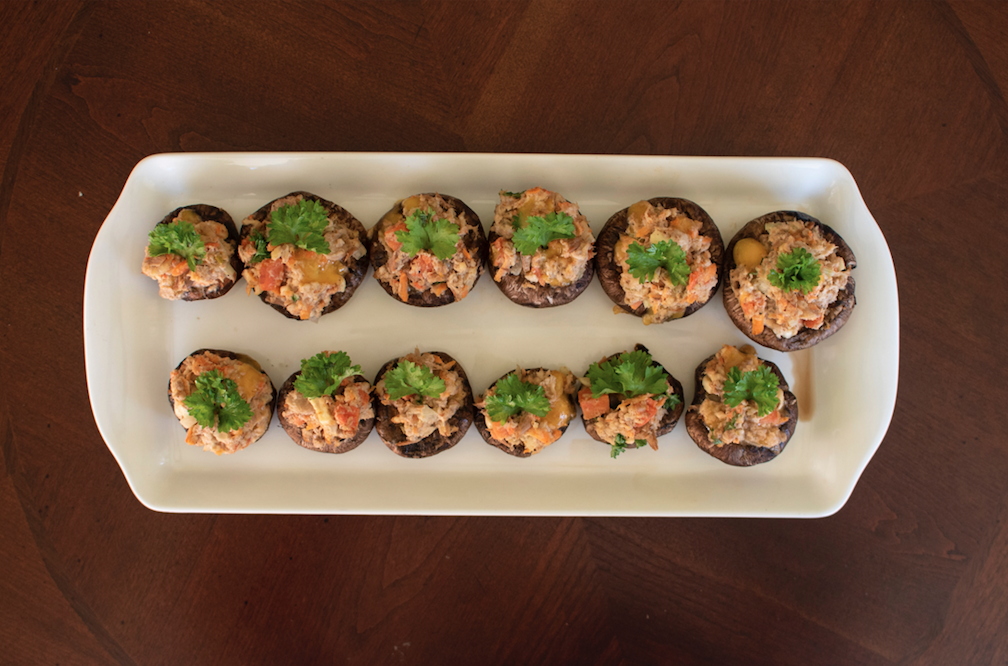 BRUNSWICK<sup>®</sup> TUNA STUFFED MUSHROOMS